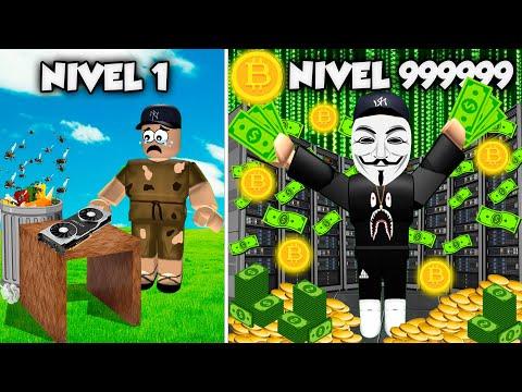 Hago Super Mina De Bitcoins 🤑💵y Me Hago MILLONARIO Bitcoin Miner Roblox