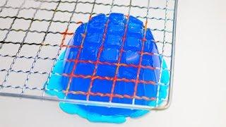 Glühendes Metall Gitter VS Gummi und Co. Experiment