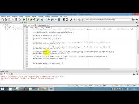 Integrando WxFormBuilder e Python - YouTube