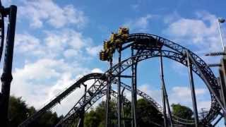 The Smiler goes wrong: Breakdown at the top! Alton Towers roller coaster