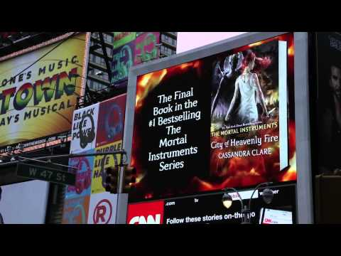 City of Heavenly Fire NYC Times Square Billboard
