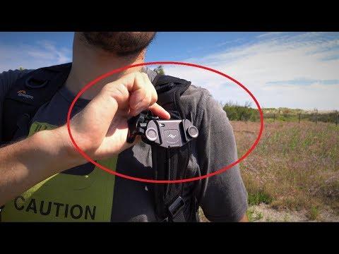 nouveau concept 966fd 282c0 Comment porter son appareil photo - 1/6 - Support Peak Design Capture pour  sangle de sac
