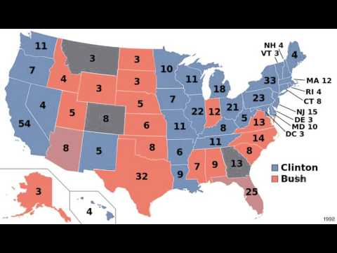 US Presidential Elections Timelapse - 1984 - 2012