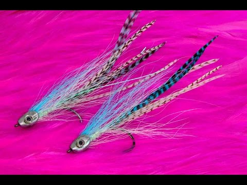 Saltwater Baitfish Fly Tying Lesson, How To Tie The: Blue Skull Bait
