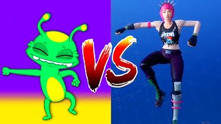Fortnite Dance Challenge (real life) - Fortnite Battle Royale all dances with Groovy The Martian