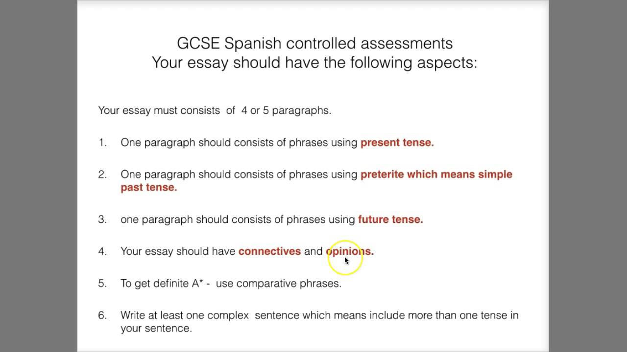 Help with spanish essay