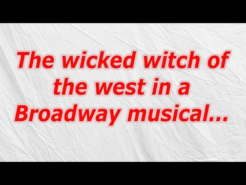 The wicked witch of the west in a Broadway musical (CodyCross Crossword Answer)