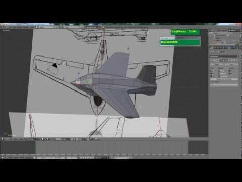 Blender Rocket Plane Modeling Tutorial for Beginners - Me163 Komet