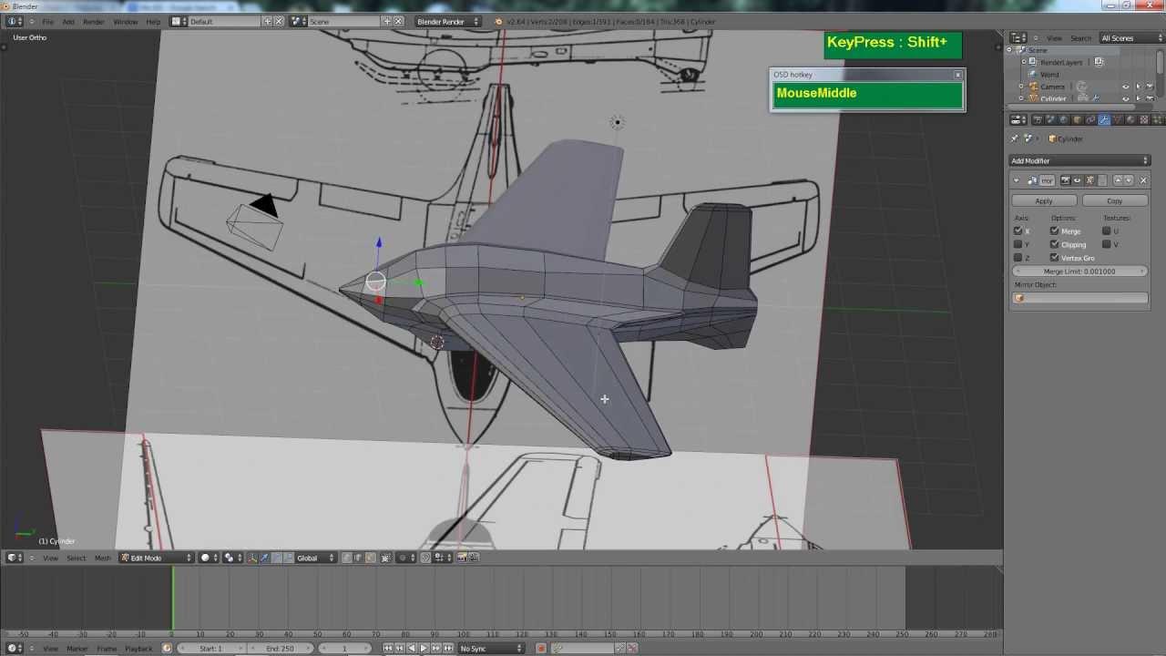 Blender rocket plane modeling tutorial for beginners for 3d max lessons for beginners