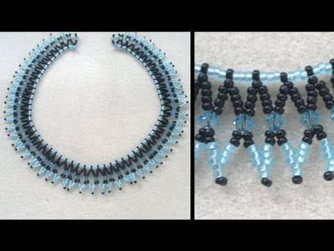 Beading4perfectionists : Basic netted necklace for beginning beaders beading tutorial