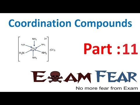 Chemistry Coordination Compounds part 11 (Isomerism : geometrical, optical) CBSE class 12 XII