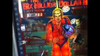 Bally 1978 The Six Million Dollar Man Pinball Machine