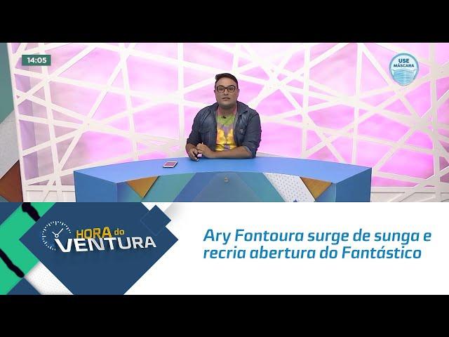 Ary Fontoura surge de sunga e recria abertura do Fantástico no ano de 1980 - Bloco 01