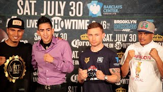 Leo Santa Cruz vs. Carl Frampton COMPLETE Final Press Conference & Face Off video