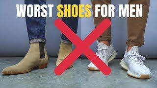 7 Shoes A Man Should NEVER Wear | Stop Wearing These!