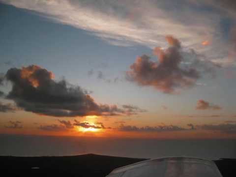 Honeymoon Video and picture clips of Cape Santa Maria, Bahamas, including short field landing video