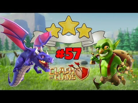 NO FLIGHT ZONE - GOBLIN MAP - 3 STAR WITH DRAGONS LEVEL 57 - CLASH OF CLANS