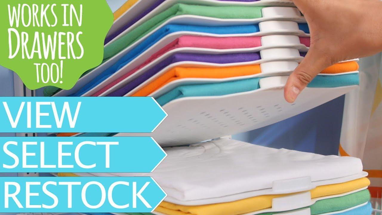 The Magnetic Closet Organizer And Laundry Folder Youtube