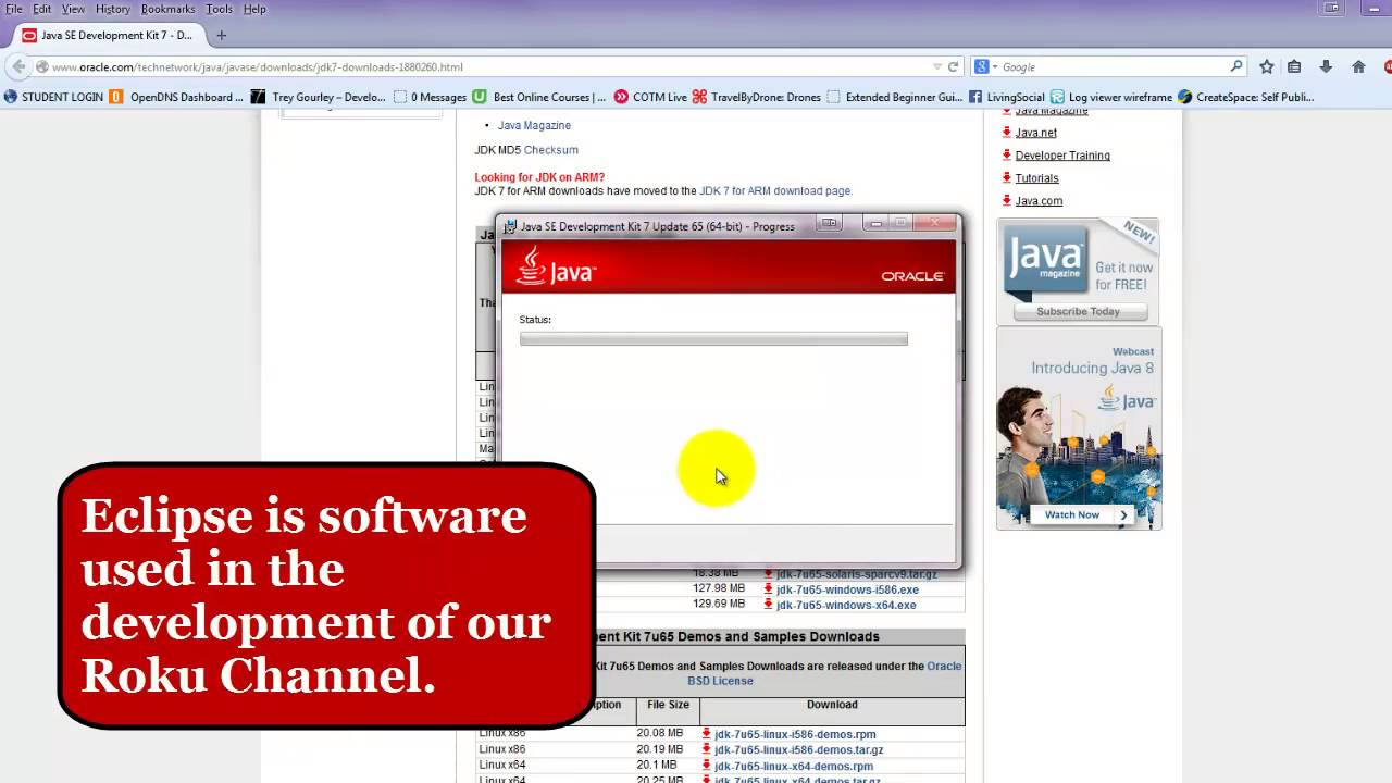 2. Developing A ROKU Channel - Installing Java SDK - YouTube