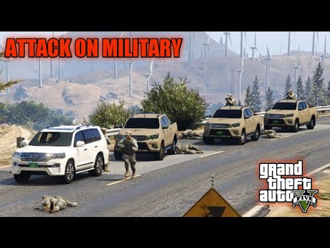 GTA 5 | Attack on Military Convoy | Franklin Kidnapped Military Chief | Game Loverz |