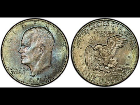 $10,500.00 EISENHOWER DOLLAR IN THIS 1972 A YEAR IN REVIEW