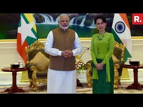 PM Narendra Modi Meets Aung San Suu Kyi In Myanmar