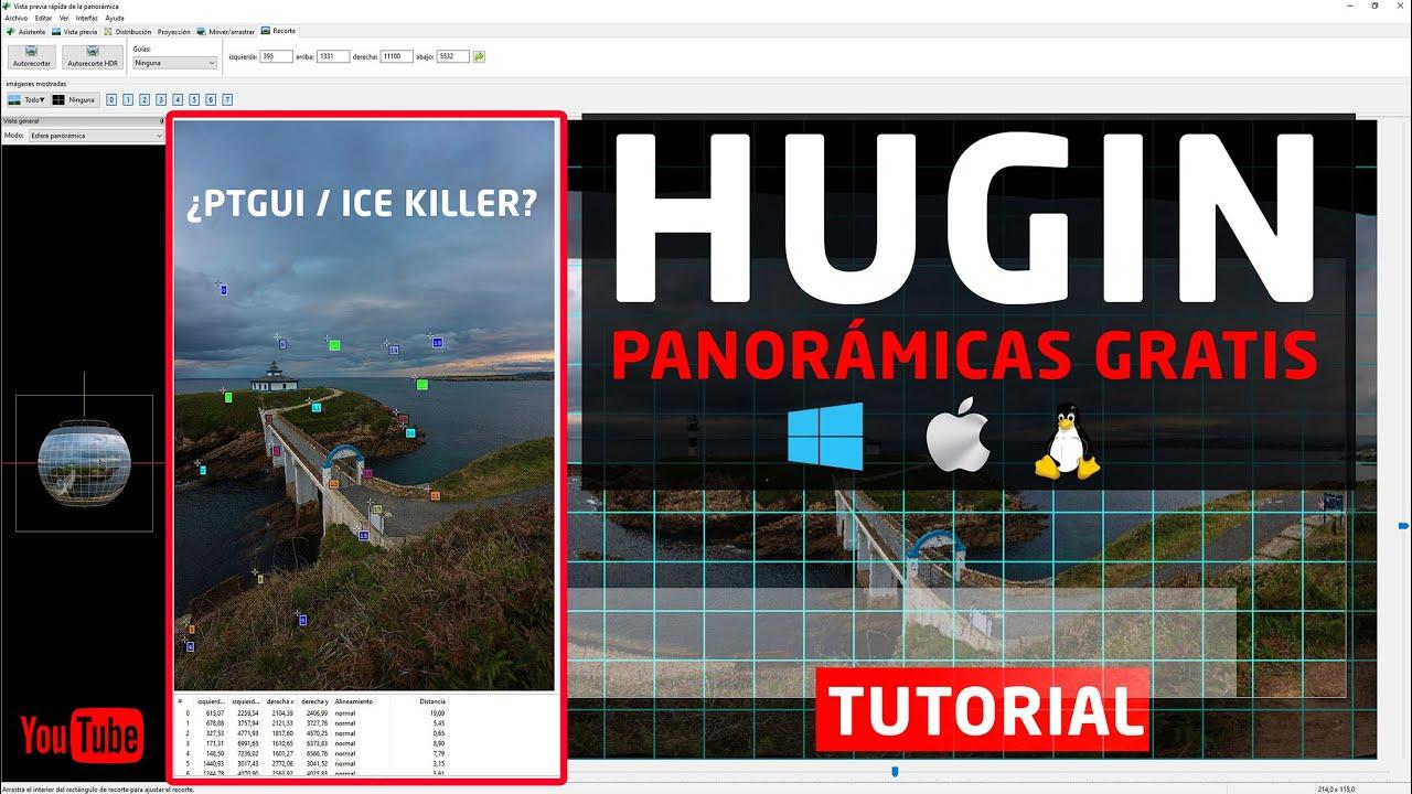 HUGIN - FOTOGRAFÍAS PANORÁMICAS con TOTAL CONTROL [PROGRAMA GRATUITO 100%]