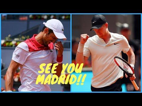 H6 - Djokovic vs  Kyle Edmund - 2nd Round Madrid 2018 - Summary