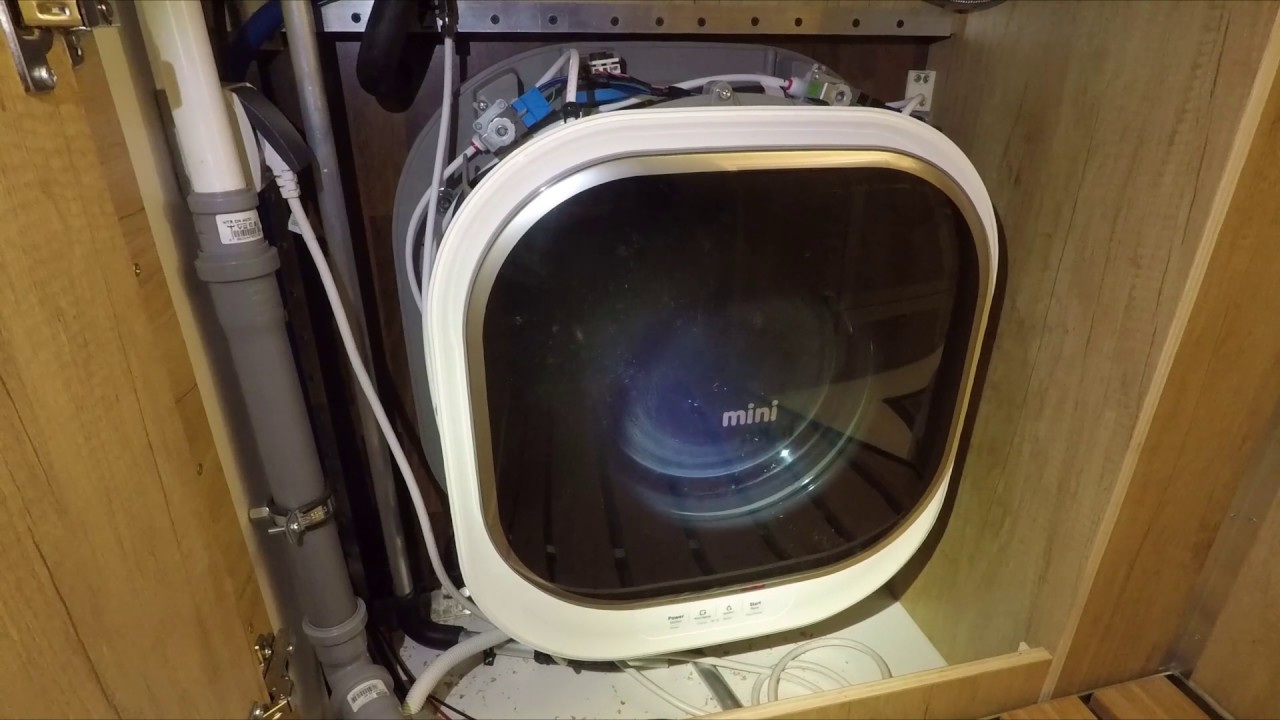Erster Probelauf: Mini Waschmaschine im Wohnmobil