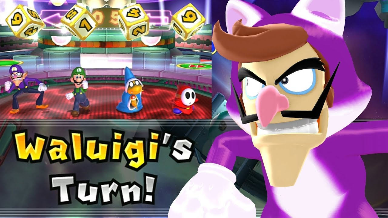 Mario Party 9 Solo Mode Waluigi Bowser Station Part 6 370 Youtube