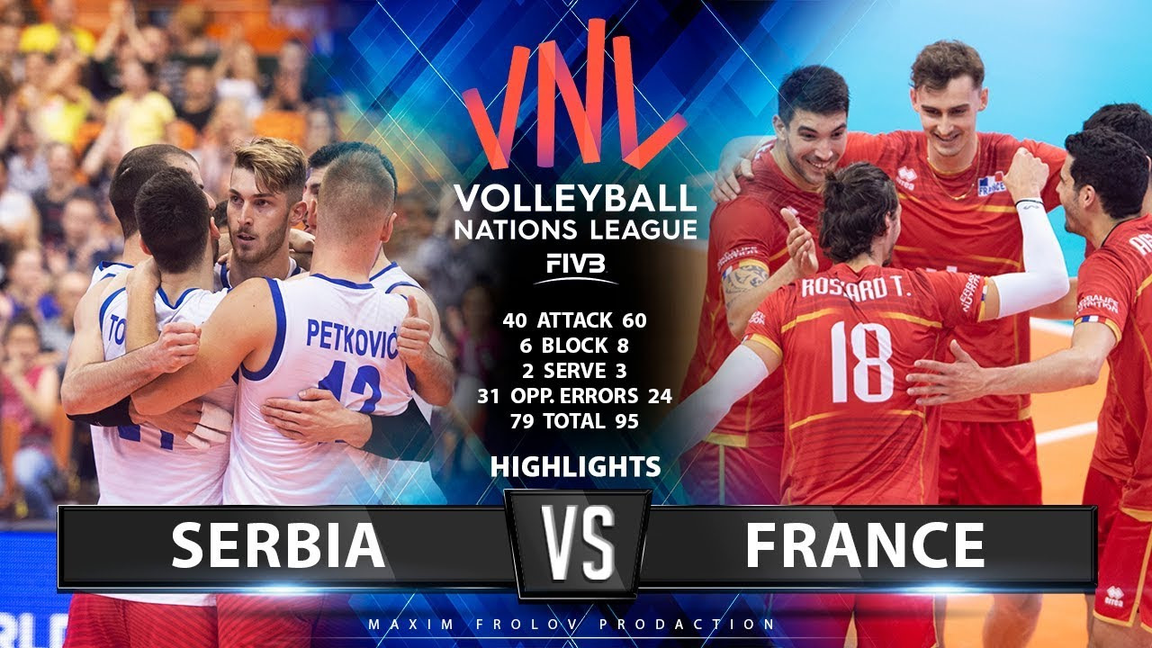 Serbia vs France | Highlights | Men's VNL 2019