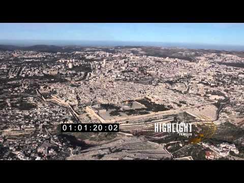 HD Aerial footage of israel: Jerusalem Temple Mount 30i