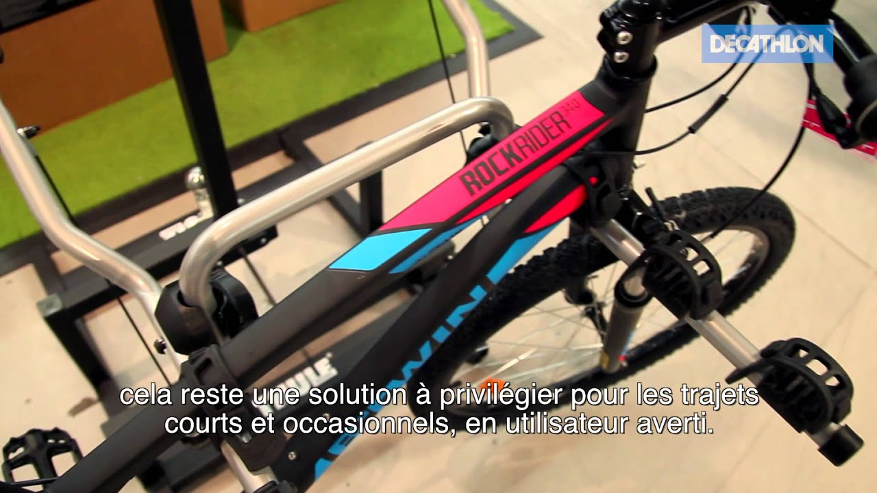 Decathlon porte v lo youtube for Velo interieur decathlon