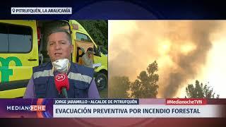 Pitrufquén: 40 familias realizaron evacuación preventiva tras incendio forestal