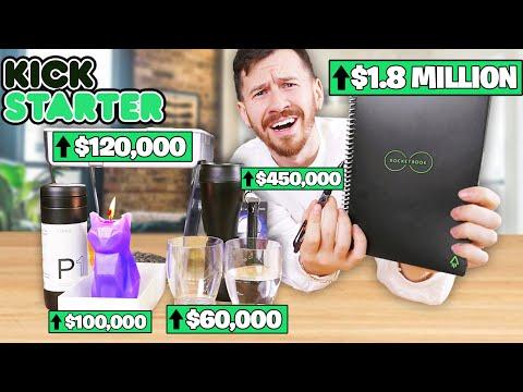 I Bought All The Products On Kickstarter! (2.5 Million+ RAISED)