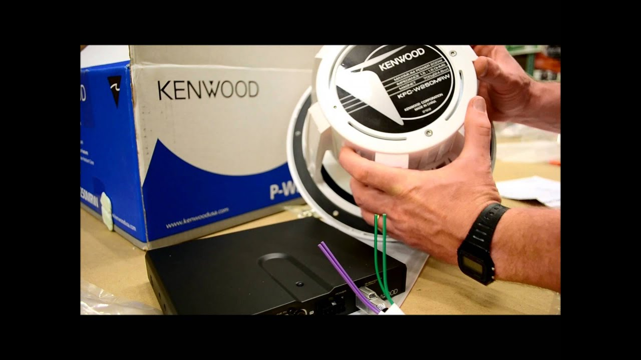 kenwood p wd250mrw marine sub and amp review [ 1280 x 720 Pixel ]