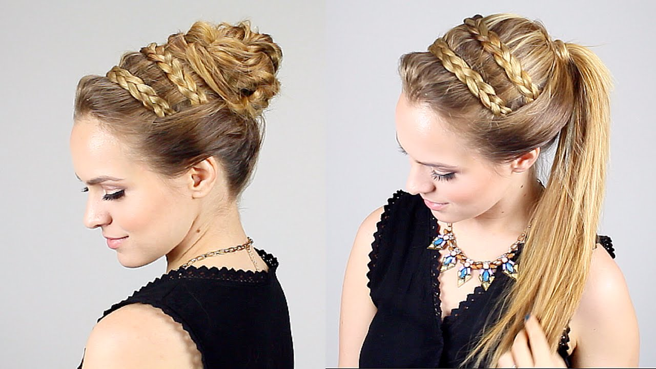 Greek Hair Styles: Quick Beautiful Goddess Bun + Ponytail Option