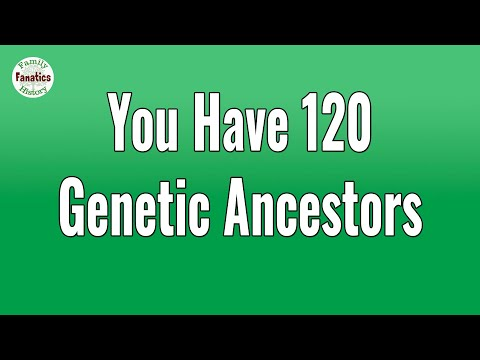 Why Are You Related To 120 Genetic Ancestors - Genetic Genealogy For Beginners