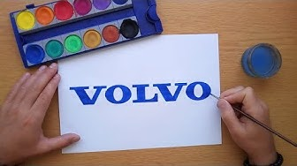 How to draw a Volvo logo