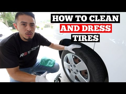 How to CLEAN and DRESS Tires- Basic Car Cleaning Tips