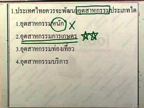 ข้อสอบเข้าม.1 : สังคม ชุด03