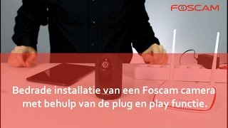 Foscam  - Camera installeren via netwerkkabel