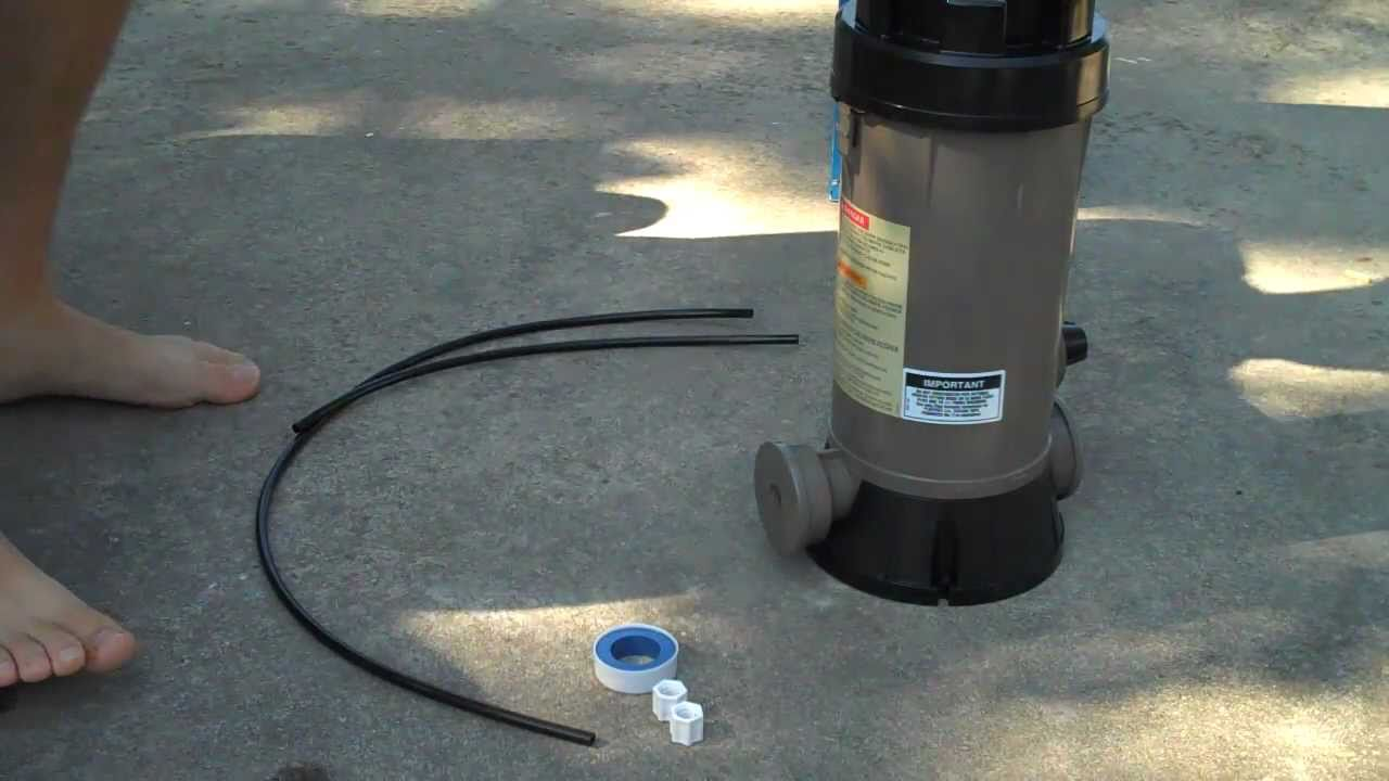 Jacuzzi Pool Chlorinator How To Install The Hayward Cl220 Automatic Chlorinator