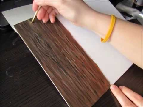 Painting wood grain in acrylic paint (real time)