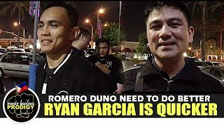 Sanman CEO: Ryan Garcia is quicker, Duno need's to do better | POST FIGHT INTERVIEW
