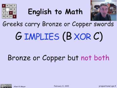 1.4.1 Propositional Operators: Video