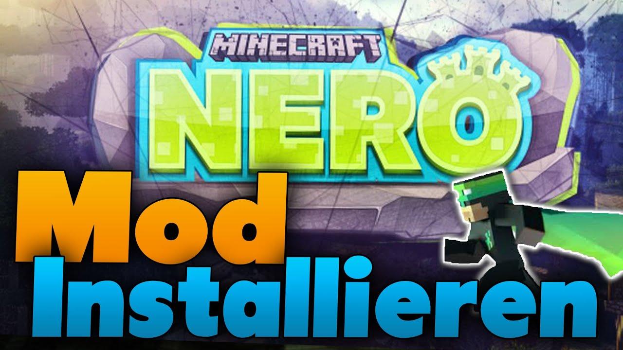 Minecraft NERO Mod Installieren Tutorial Nevermine Advent Of - Minecraft lan spielen mit mods
