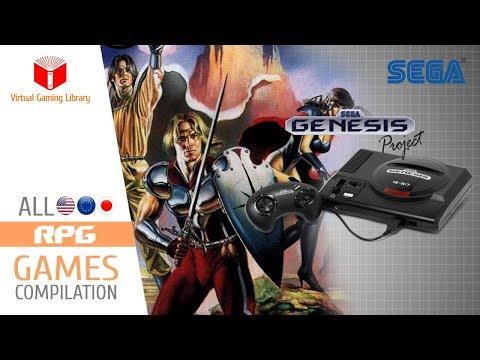 All SEGA Genesis/Mega Drive RPG Games Compilation - Every Game (US/EU/JP/BR)