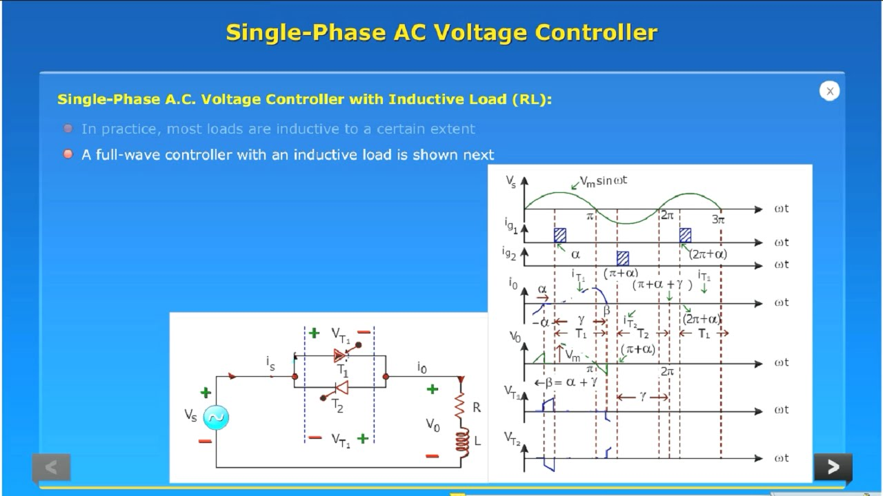 single phase ac voltage controller pdf