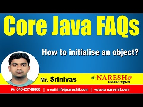 How to initialise an object? | Core Java interview Questions